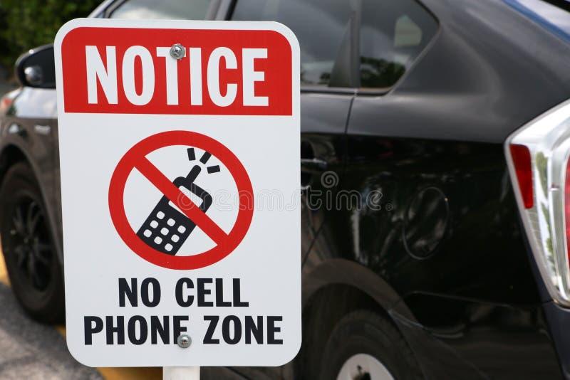 Ne notez aucun signe de zone de téléphone portable images stock