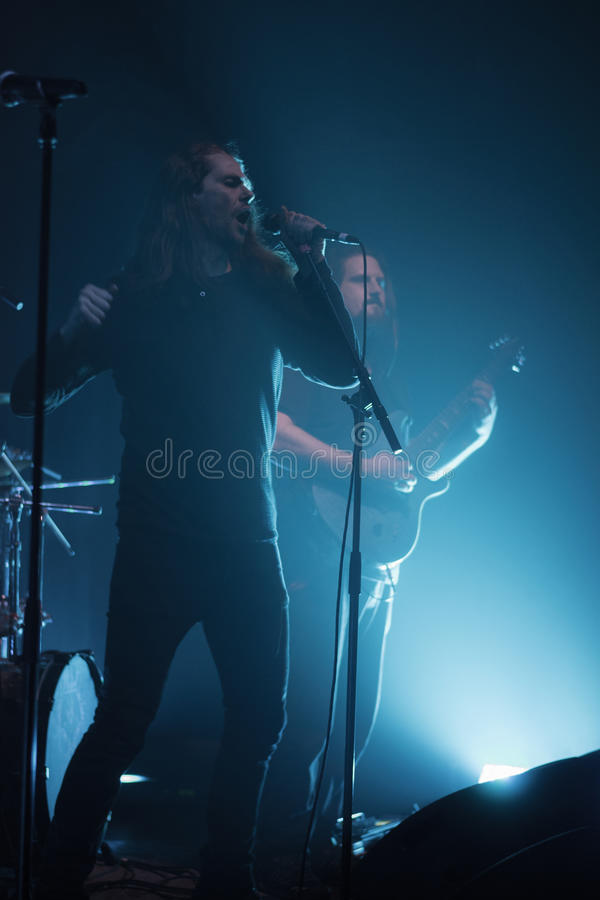 Ne Obliviscaris metal band live 2016 Ravenna, Italy. Ne Obliviscaris are a six-piece progressive metal band from Melbourne, Australia. the group was founded by stock images
