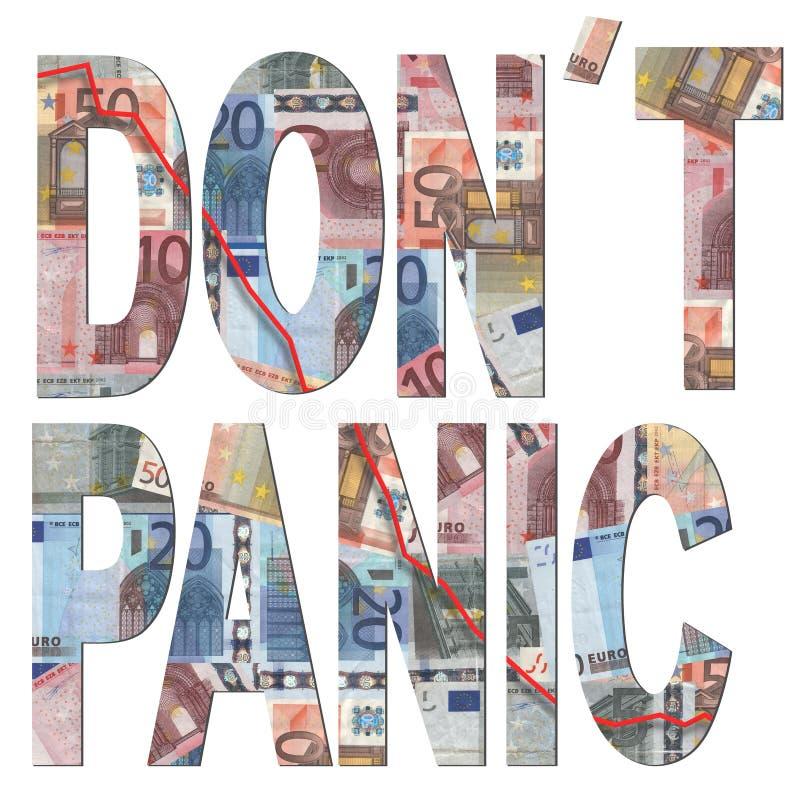 Ne paniquez pas avec des euro illustration libre de droits