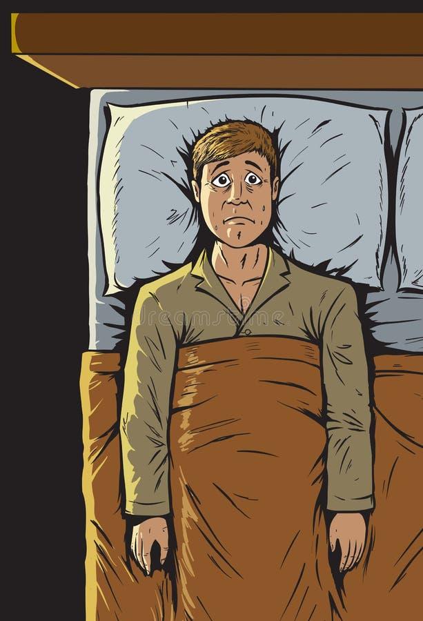 Ne peut pas dormir illustration de vecteur