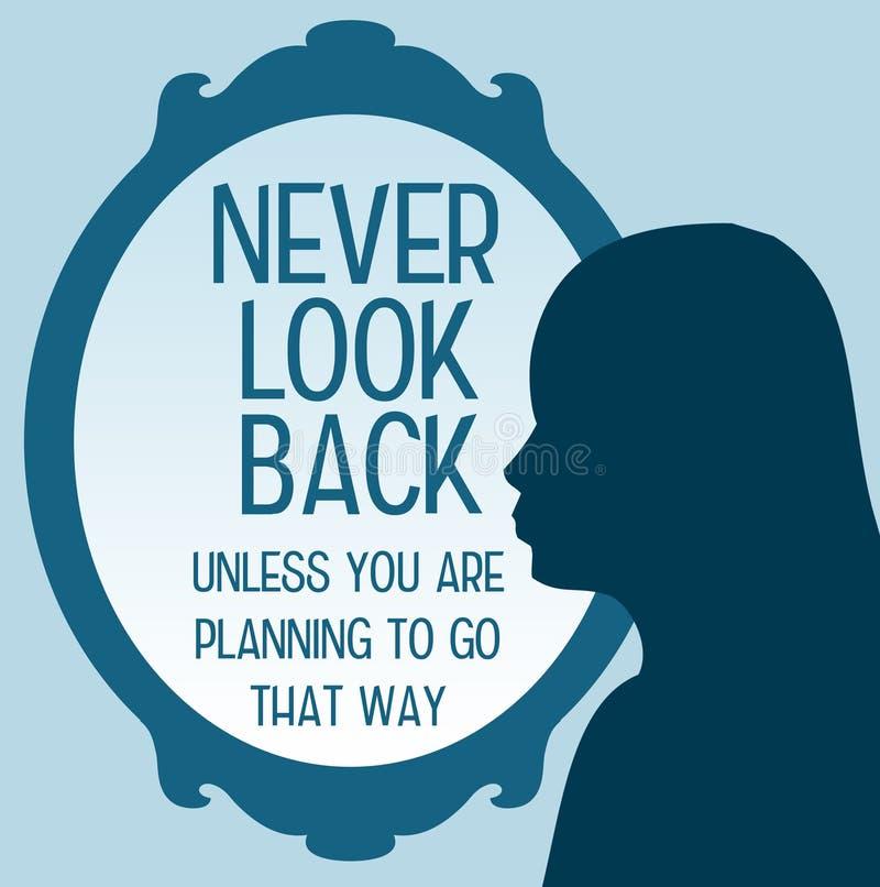 Ne regardez en arrière jamais illustration libre de droits