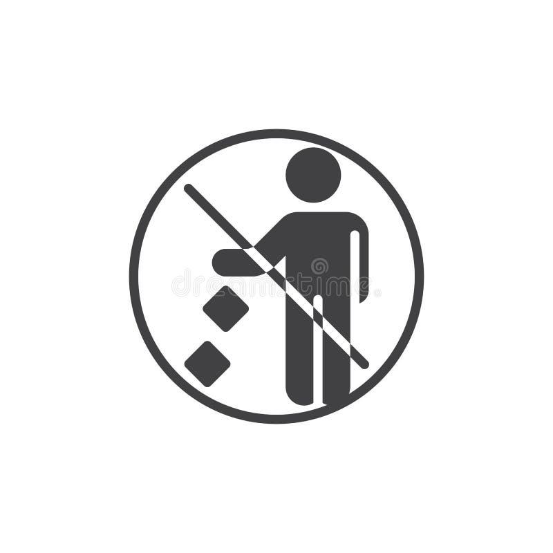 Ne salissez pas l'ic?ne de vecteur de signe d'interdiction illustration de vecteur