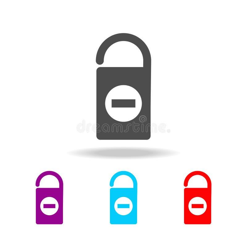 Ne touchez pas à l'icône de signe Éléments de voyage dans les icônes colorées multi Icône de la meilleure qualité de conception g illustration libre de droits