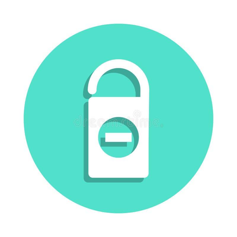 Ne touchez pas à l'icône de signe dans le style d'insigne Un de l'icône de collection de voyage peut être employé pour UI, UX illustration stock