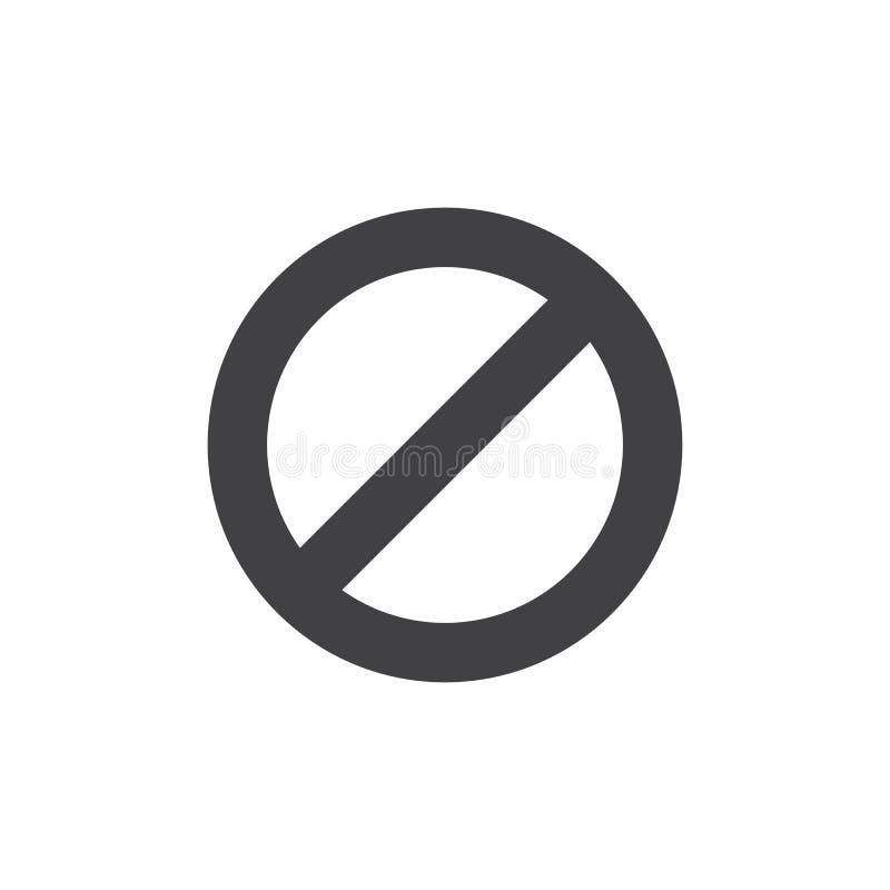 Ne touchez pas à l'icône de vecteur illustration libre de droits