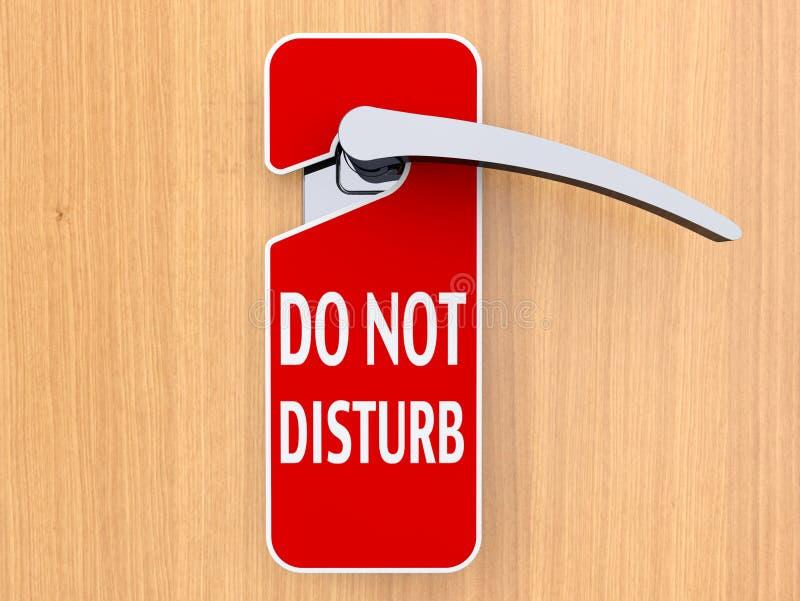 Ne touchez pas au signe accrochant sur la porte illustration de vecteur