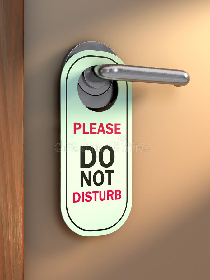 Ne touchez pas au signe illustration libre de droits