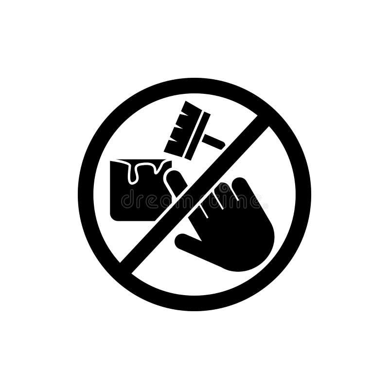 ne touchez pas, icône de peinture Élément d'icône de signe d'interdiction Icône de la meilleure qualité de conception graphique d illustration stock