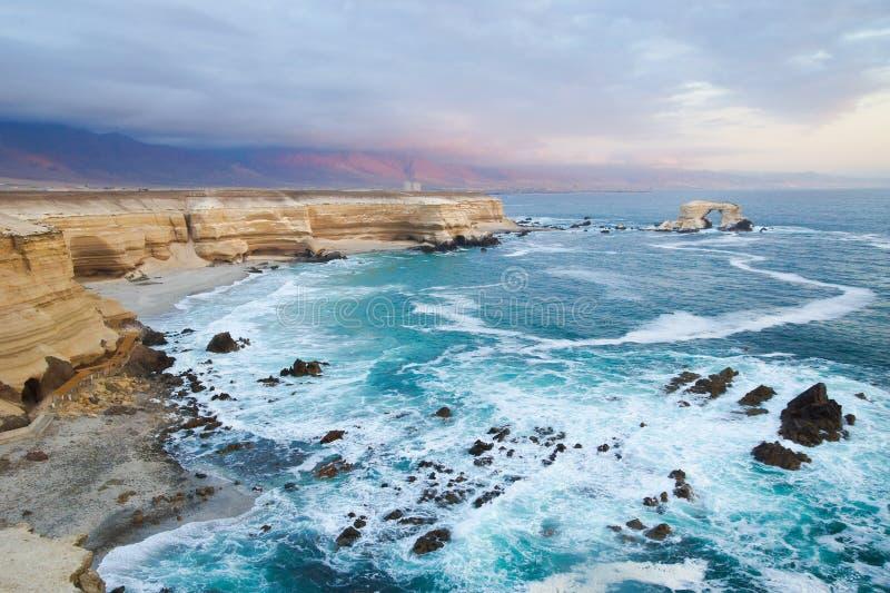 Nea Antofagasta de Portada do La (a entrada), o Chile foto de stock