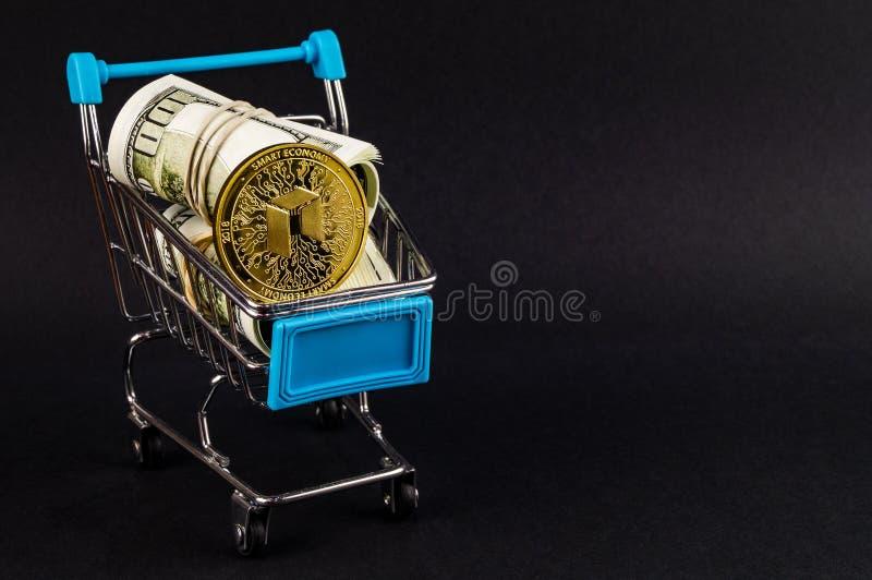 Nea es una manera moderna de intercambio y esta moneda crypto es los medios del pago convenientes en el financiero fotografía de archivo libre de regalías