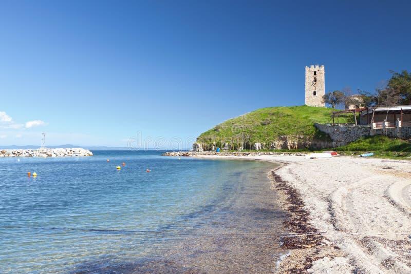 Nea Fokea Summer Resort In Greece Stock Photography