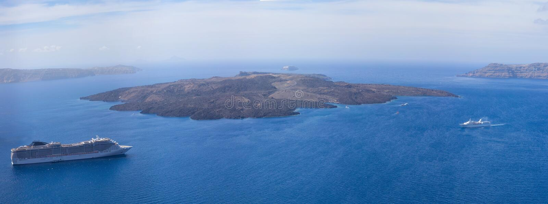 Nea Kameni-eiland royalty-vrije stock foto