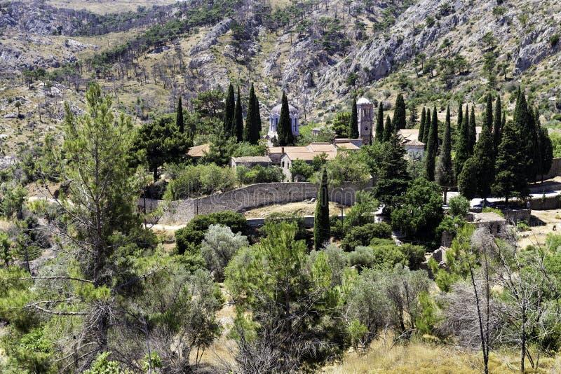 Nea Moni, nuevo monasterio en la isla de Quíos, Grecia foto de archivo libre de regalías