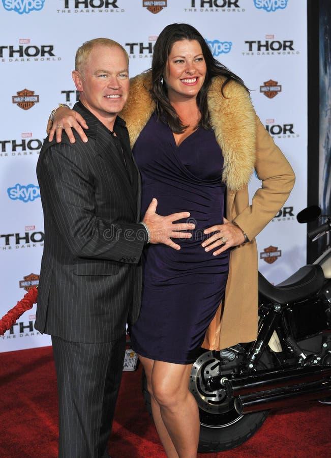 Neal McDonough & Ruve McDonough foto de stock royalty free