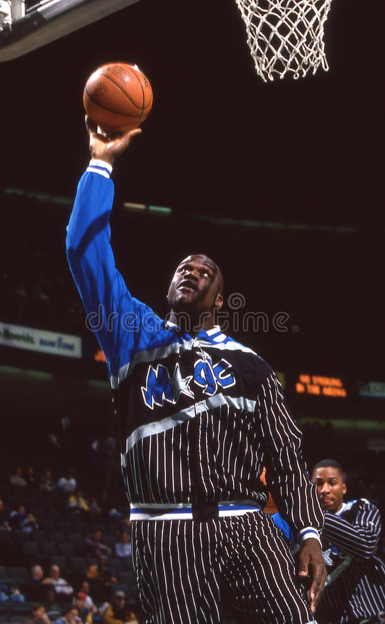 ` Neal, Orlando Magic de Shaquille O photographie stock libre de droits