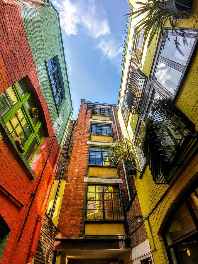 Neal& x27;s Yard buildings in London royalty free stock photos