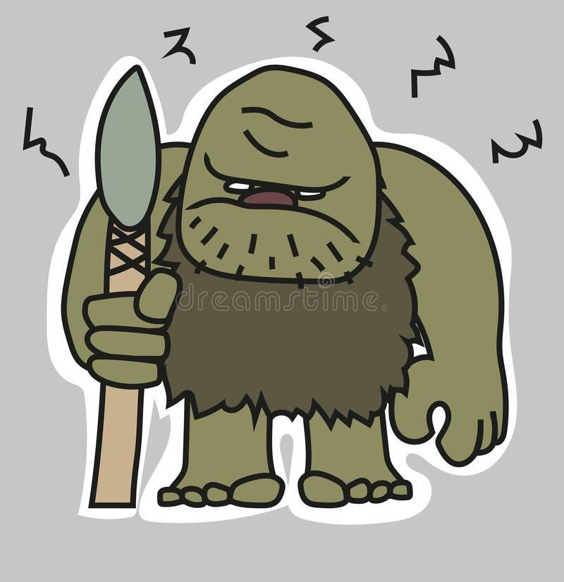 Neandertal lizenzfreie abbildung
