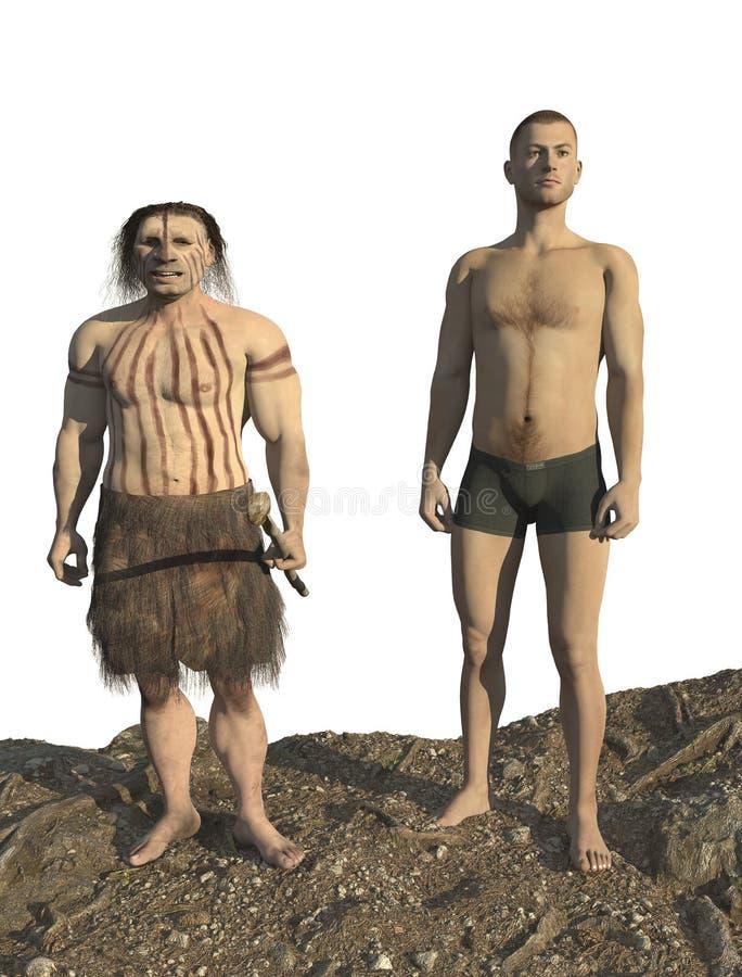 Neanderthal del homo imágenes de archivo libres de regalías