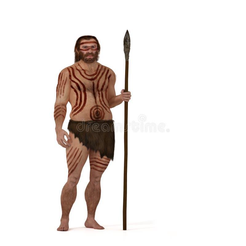Neanderthal gegen modernen Menschen vektor abbildung