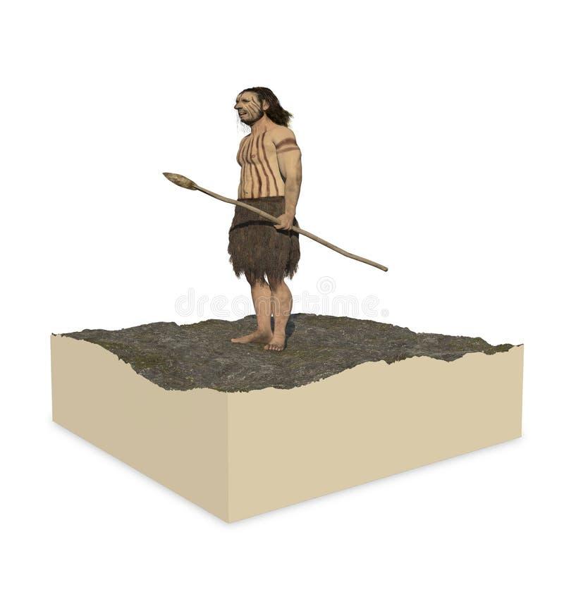 Neanderthaler Homo vector illustratie