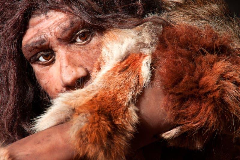 Neanderthaluttryck arkivbilder