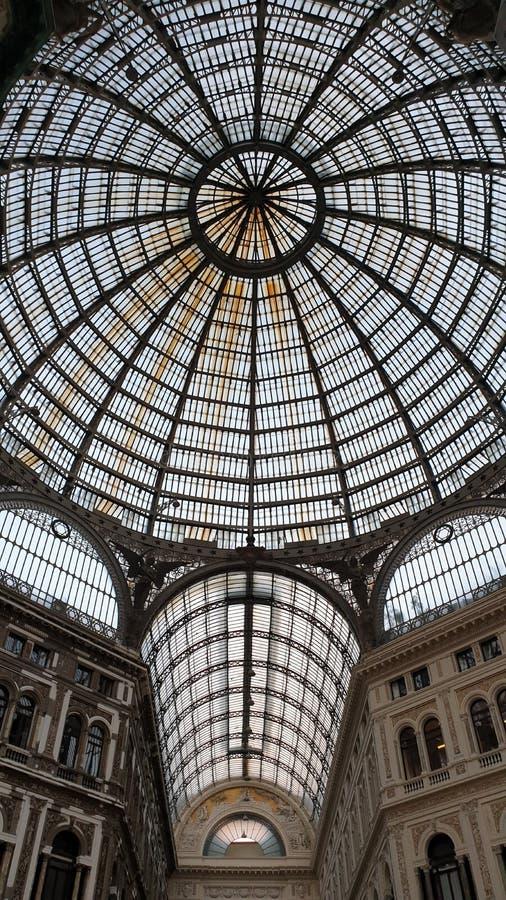 Neapel-Galleria Umberto I lizenzfreie stockbilder