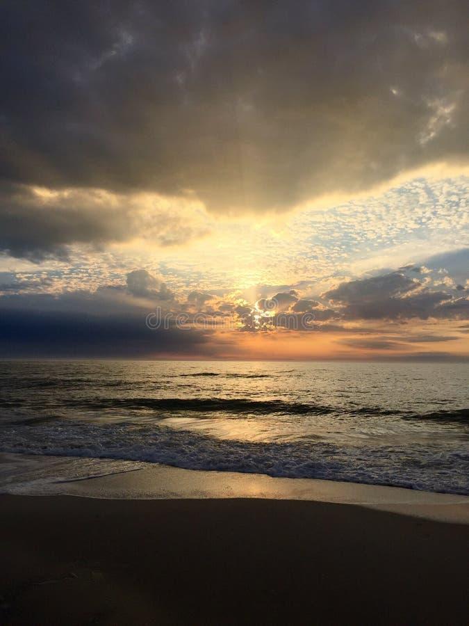 Neapel-Sonnenuntergang lizenzfreie stockfotografie