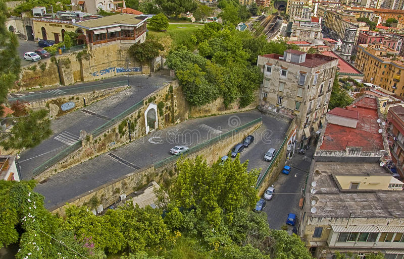 Neapolitan bends. Bends in the city of naples, italy royalty free stock images