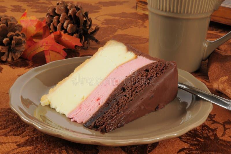 Neapolitan Cheesecake στοκ εικόνα