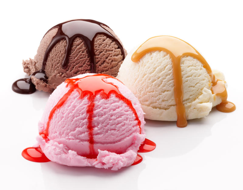 Neapolitan ice cream royalty free stock photo