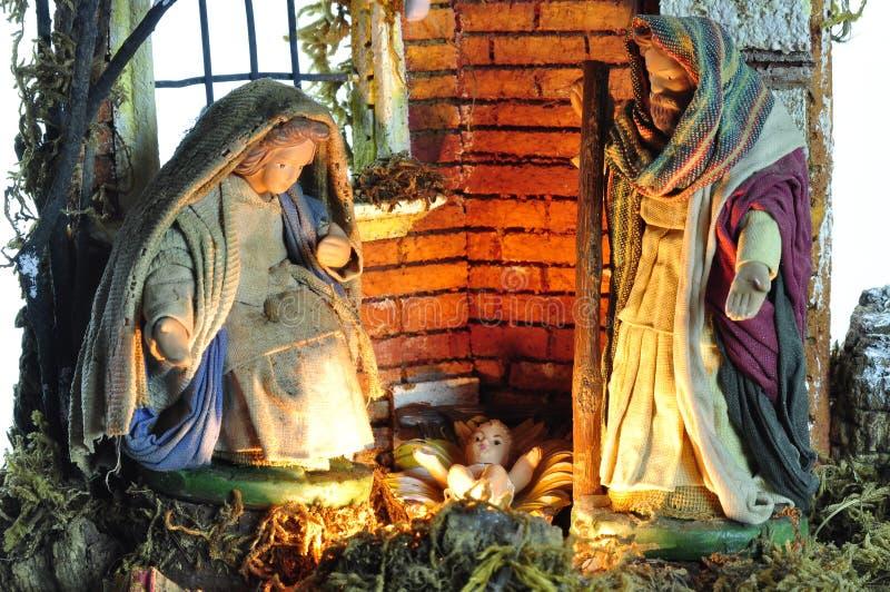 Neapolitan nativity scene stock photo