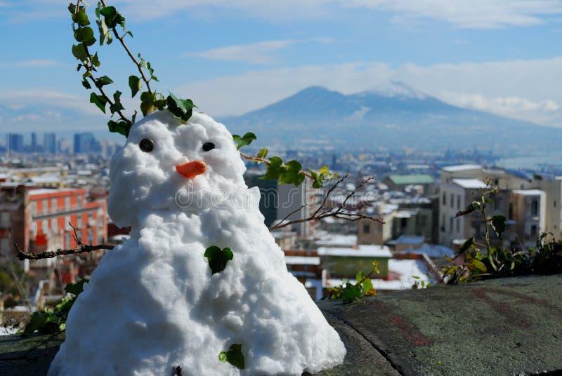 Neapolitan snögubbe arkivfoton