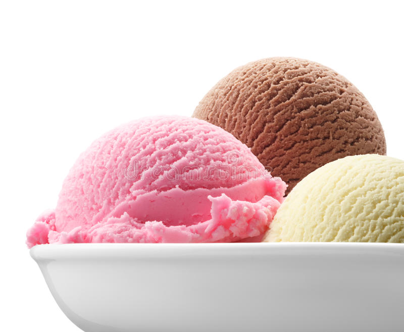 Neapolitanische Eiscreme lizenzfreies stockbild