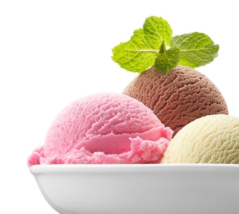 Neapolitanische Eiscreme stockfotografie