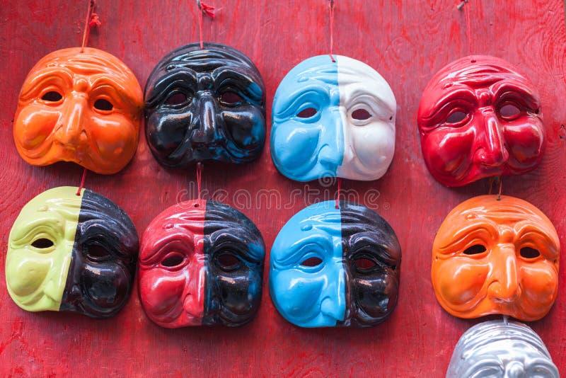 Neapolitanische Pulcinella-Masken lizenzfreies stockfoto