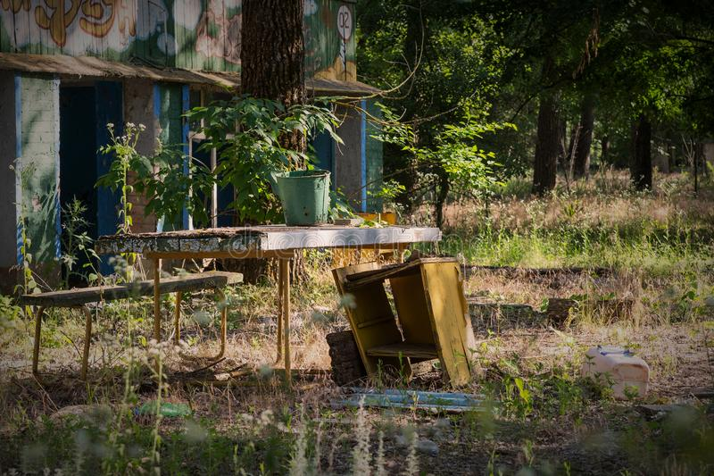 abandoned house is an old table royalty free stock images