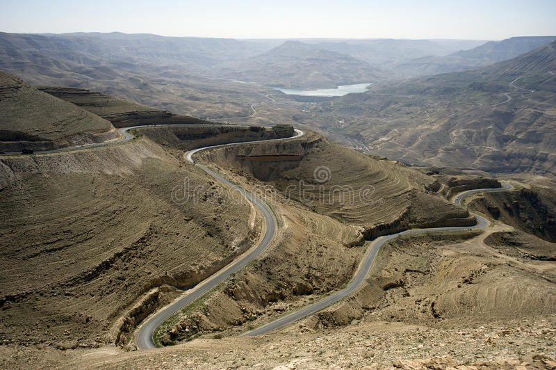 Near Amman. Jordan. Countryside and lake close to Amman. Jordan royalty free stock image