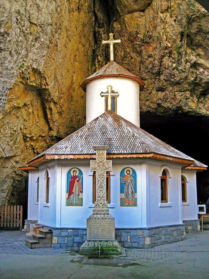 Ialomitei Cave and the Pestera Monastery, Romania stock images