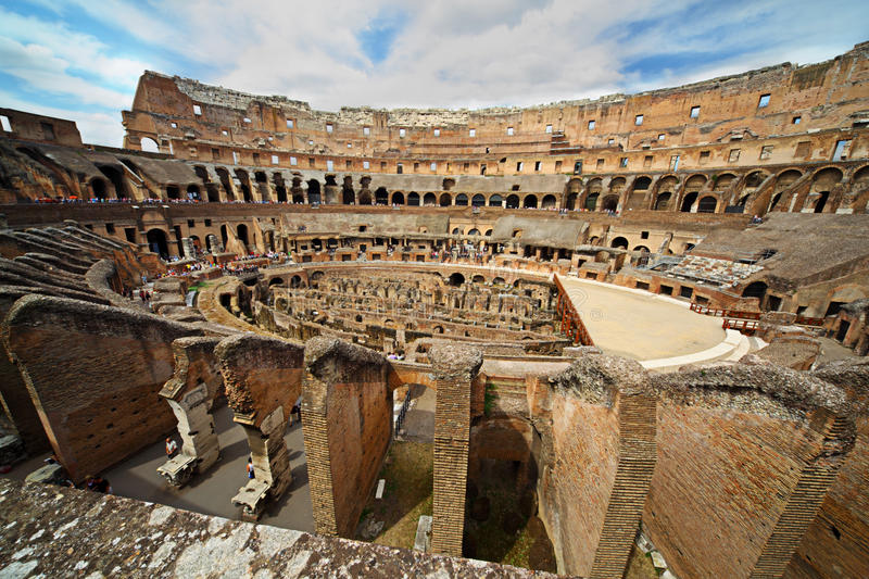 Download Near Center Of Arena In Ancient Coliseum Stock Photography - Image: 18360172