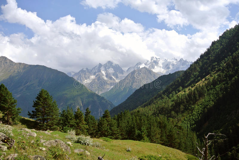 Near the Elbrus royalty free stock image