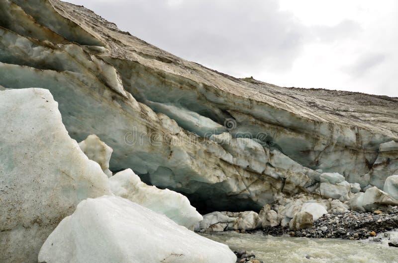 near a glacier royalty free stock photography