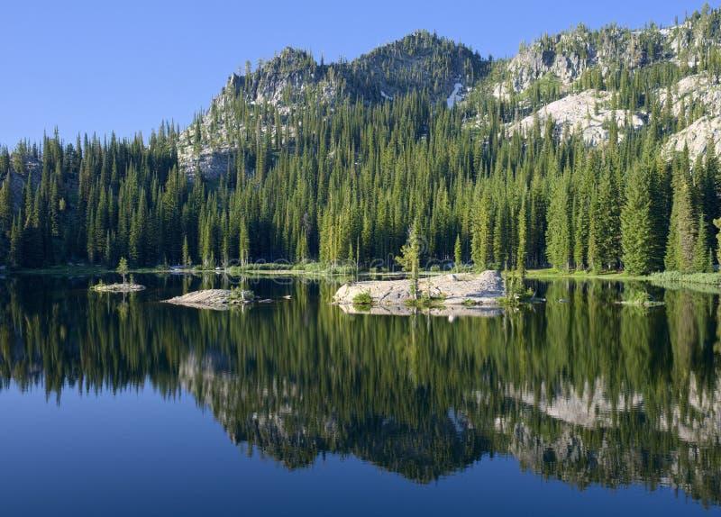 Near kaskad Idaho för blå sjö royaltyfri bild