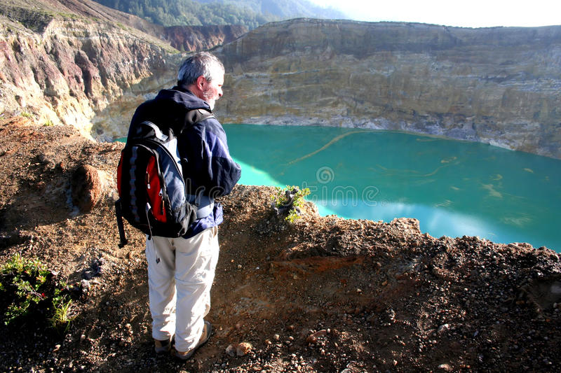 Near Kelimutu volcano stock photography