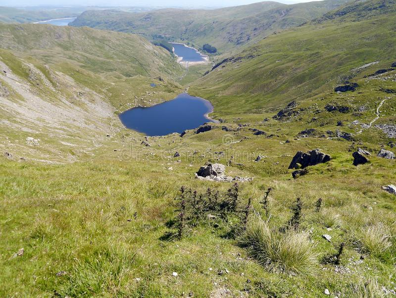 Looking down to Small Water, Lake District stock photography