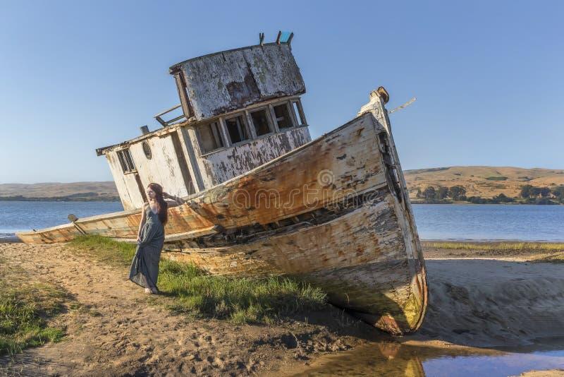 Near punkt Reyes för skeppsbrott royaltyfria foton