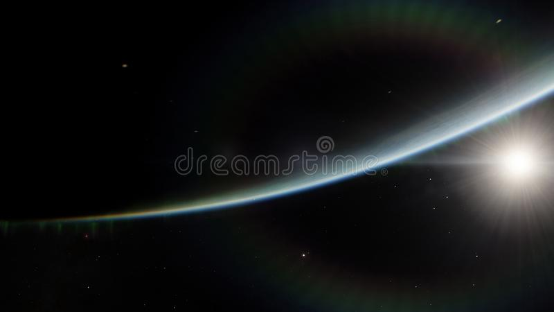 Near Space, earth, blue planet. this image elements furnished by nasa. Near Space, earth blue planet, this image elements furnished by nasa stock illustration