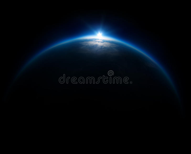Near Space photography - 20km above ground / real photo taken fr royalty free stock photo