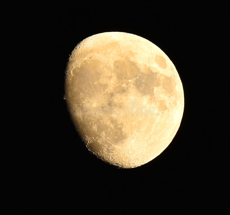 Nearly full moon royalty free stock images