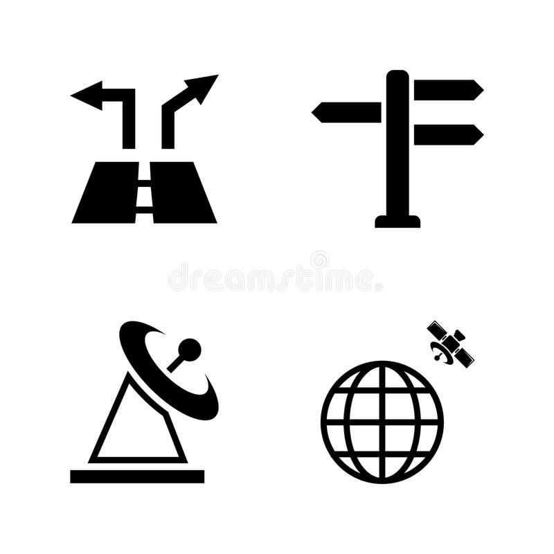 nearsighted Iconos relacionados simples del vector stock de ilustración
