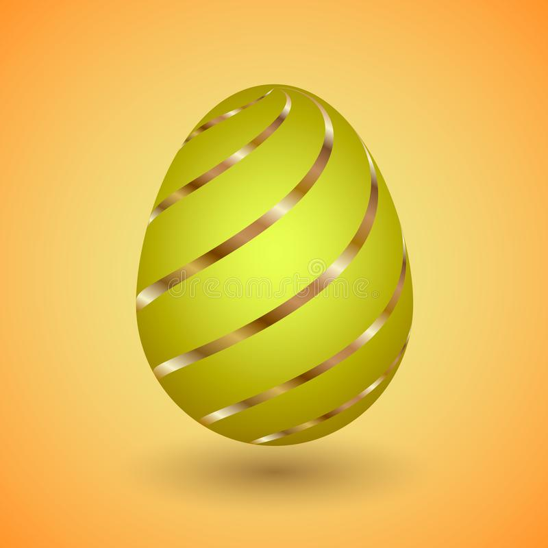NEaster Egg with gold stripes royalty free stock images